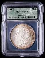 1897 Morgan Silver Dollar (ICG MS64) (Toned) at PristineAuction.com