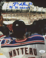 """Stephane Matteau Signed Rangers 8x10 Photo Inscribed """"94 SC Champs"""" (JSA COA) at PristineAuction.com"""