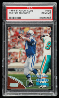 Peyton Manning 1998 Stadium Club #195 RC (PSA 10) at PristineAuction.com