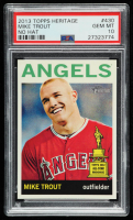 Mike Trout 2013 Topps Heritage #430A SP (PSA 10) at PristineAuction.com
