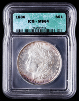 1886 Morgan Silver Dollar (ICG MS64) (Toned) at PristineAuction.com