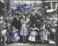 """The Wizard of Oz"" 8x10 Photo Cast-Signed by (4) with Mickey Carroll, Jerry Maren, Karl Slover, & Donna Stewart Hardaway (JSA COA) at PristineAuction.com"