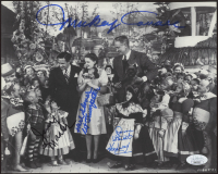 """""""The Wizard of Oz"""" 8x10 Photo Cast-Signed by (4) with Mickey Carroll, Jerry Maren, Karl Slover, & Donna Stewart Hardaway Inscribed """"1st Trumpeter"""" (JSA COA) at PristineAuction.com"""