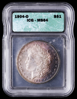 1904-O Morgan Silver Dollar (ICG MS64) (Toned) at PristineAuction.com