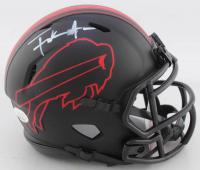 Frank Gore & Devin Singletary Signed Bills Eclipse Alternate Speed Mini Helmet (JSA COA) at PristineAuction.com