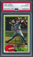 Tom Seaver Signed 1981 Topps #220 (PSA Encapsulated) at PristineAuction.com