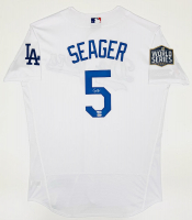 Corey Seager Signed Dodgers Jersey with 2020 World Series Champion Patch (Fanatics Hologram & MLB Hologram) at PristineAuction.com