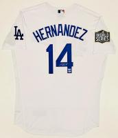 Enrique Hernandez Signed Dodgers Jersey with 2020 World Series Champion Patch (Fanatics Hologram & MLB Hologram) at PristineAuction.com