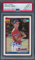 Chipper Jones Signed 1991 Topps #333 RC (PSA 9) at PristineAuction.com