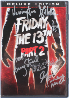 """Friday the 13th: Part 2"" DVD Cast-Signed by (4) with Warrington Gillette, Amy Steel, John Furey, & Steve Daskewisz with Multiple Inscriptions (JSA COA) at PristineAuction.com"