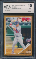 Mike Trout 2011 Topps Heritage Minors #44 (BCCG 10) at PristineAuction.com