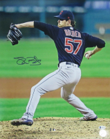 Shane Bieber Signed Indians 16x20 Photo (Beckett COA) at PristineAuction.com