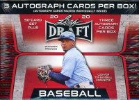 2020 Leaf Draft Baseball Blaster Box - 3 Autos Per Box!!! at PristineAuction.com