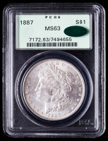 1887 Morgan Silver Dollar (PCGS MS63) (CAC) OGH at PristineAuction.com