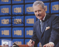 "Alex Trebek Signed ""Jeopardy"" 8x10 Photo Inscribed ""With My Very Best Wishes"" (JSA COA) at PristineAuction.com"