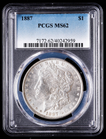 1887 Morgan Silver Dollar (PCGS MS62) at PristineAuction.com