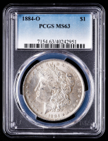 1884-O Morgan Silver Dollar (PCGS MS63) at PristineAuction.com