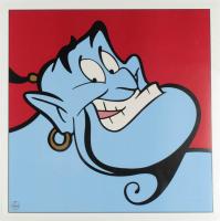 "Walt Disney's ""Aladdin"" Genie 23x23 Print at PristineAuction.com"