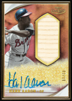 Hank Aaron 2020 Topps Gold Label Golden Greats Framed Autograph Relics #GLRHA at PristineAuction.com