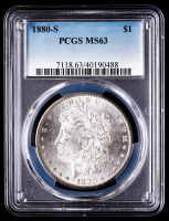 1880-S Morgan Silver Dollar (PCGS MS63) at PristineAuction.com