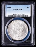 1898 Morgan Silver Dollar (PCGS MS63) at PristineAuction.com