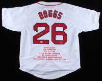 Wade Boggs Signed Career Highlight Stat Jersey (JSA COA) at PristineAuction.com