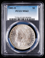1882-O Morgan Silver Dollar (PCGS MS63) at PristineAuction.com