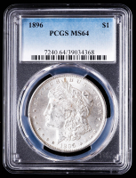 1896 Morgan Silver Dollar (PCGS MS64) at PristineAuction.com