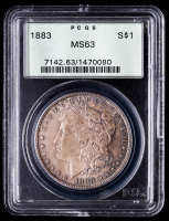 1883 Morgan Silver Dollar (PCGS MS63) OGH (Toned) at PristineAuction.com