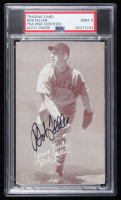 Bob Feller Signed 1947 Exhibit Card (PSA Encapsulated) at PristineAuction.com