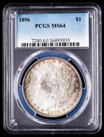 1896 Morgan Silver Dollar (PCGS MS64) (Toned) at PristineAuction.com