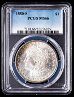 1880-S Morgan Silver Dollar (PCGS MS66) (Toned) at PristineAuction.com