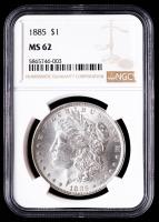 1885 Morgan Silver Dollar (NGC MS62) at PristineAuction.com