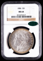 1886 Morgan Silver Dollar (NGC MS64) (CAC) (Toned) at PristineAuction.com