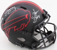 Jim Kelly, Thurman Thomas & Andre Reed Signed Bills Full-Size Eclipse Alternate Speed Helmet (JSA COA) at PristineAuction.com