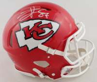 Travis Kelce Signed Chiefs Full-Size Authentic On-Field Speed Helmet (Beckett COA) at PristineAuction.com