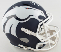 Peyton Manning Signed Broncos Full-Size AMP Alternate Speed Helmet (Fanatics Hologram) at PristineAuction.com