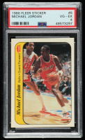 Michael Jordan 1986-87 Fleer Stickers #8 (PSA 4) at PristineAuction.com