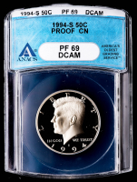 1994-S Kennedy Half Dollar (ANACS PF68 Deep Cameo) at PristineAuction.com