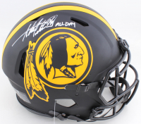 "Adrian Peterson Signed Redskins Full-Size Authentic On-Field Eclipse Alternate Speed Helmet Inscribed ""All Day"" (Beckett COA) at PristineAuction.com"