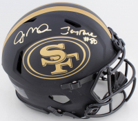Joe Montana & Jerry Rice Signed 49ers Full-Size Authentic On-Field Eclipse Alternate Speed Helmet (Beckett COA) at PristineAuction.com