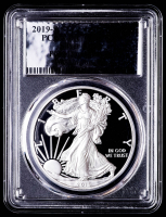 2019-S American Silver Eagle $1 One Dollar Coin - First Day of Issue, Silver Foil Label (PCGS PR70 Deep Cameo) at PristineAuction.com