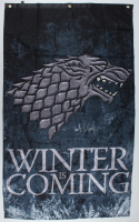 """Kit Harington Signed """"Game of Thrones"""" 30x50 """"Winter is Coming"""" Banner (Radtke COA) at PristineAuction.com"""