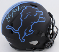 Barry Sanders Signed Lions Full-Size Eclipse Alternate Speed Helmet (Beckett COA & Schwartz COA) at PristineAuction.com