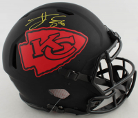 Travis Kelce Signed Chiefs Full-Size Authentic On-Field Eclipse Alternate Speed Helmet (Beckett COA) at PristineAuction.com