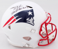 """Randy Moss Signed Patriots Full-Size Authentic On-Field Matte White Speed Helmet Inscribed """"Straight Cash Homie"""" (Beckett COA) at PristineAuction.com"""
