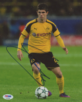 Christian Pulisic Signed Borussia Dortmund 8x10 Photo (PSA COA) at PristineAuction.com