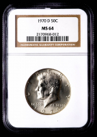 1970-D Kennedy Half Dollar (NGC MS64) at PristineAuction.com
