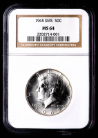 1965 Kennedy Half Dollar SMS (NGC MS64) at PristineAuction.com