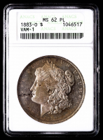 1883-O Morgan Silver Dollar, VAM-1 (ANACS MS62 Proof Like) at PristineAuction.com